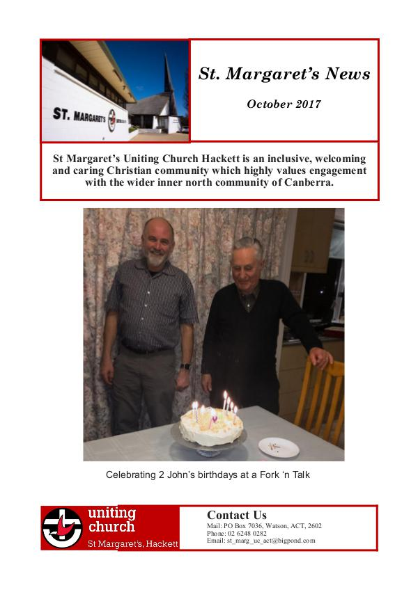 St M's News Cover 10.17