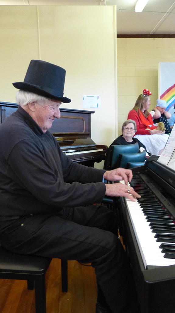 David at piano