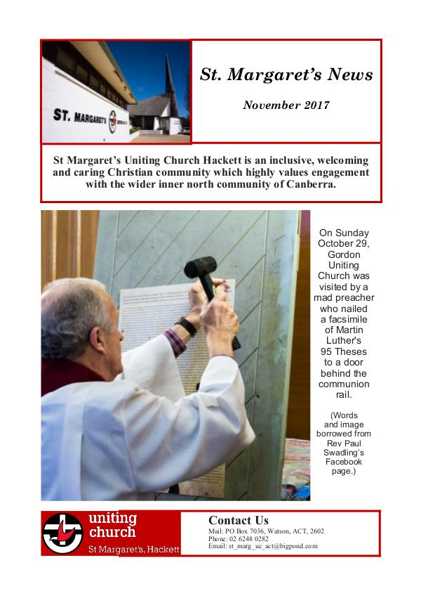 St M's News Cover 11.17