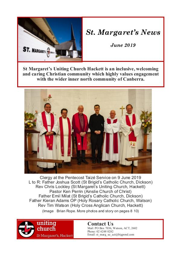 St M's News Cover 06.19