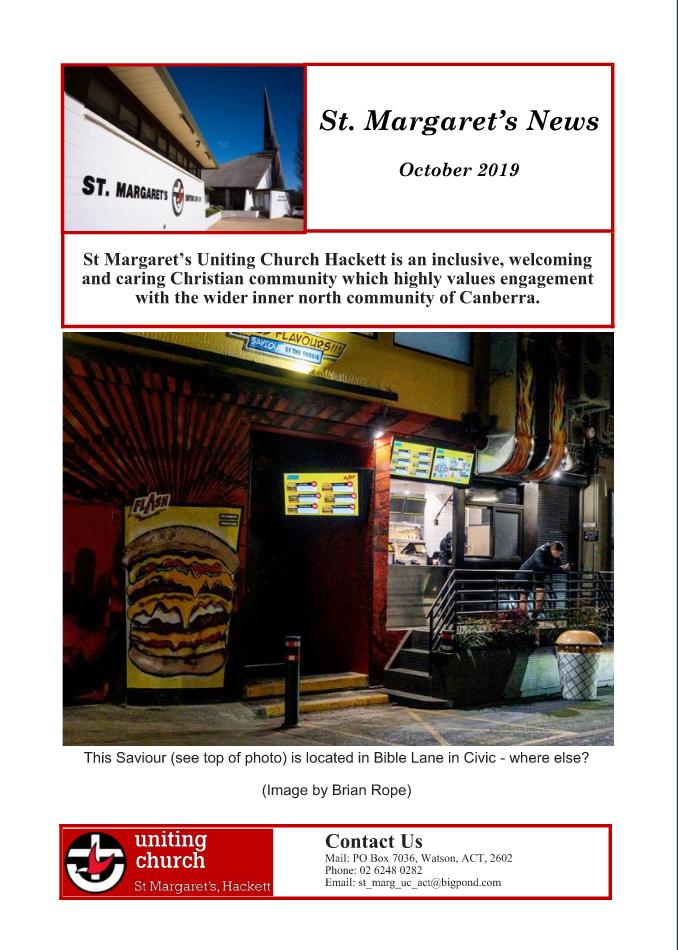Cover St Margaret's News October 2019